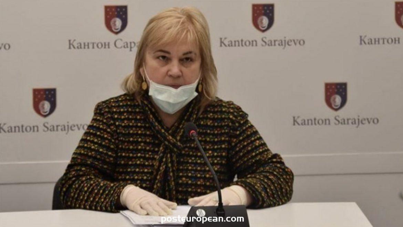 薩拉熱窩州危機負責人Aida Pilav檢測冠狀病毒呈陽性