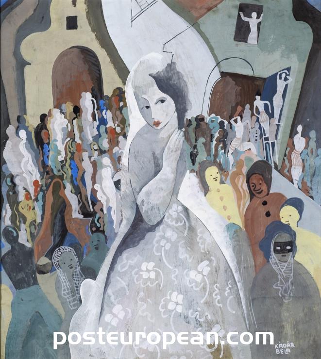 匈牙利著名畫家貝拉·卡拉達的作品在倫敦畫廊展出