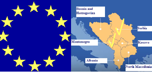 黑山和塞爾維亞在改用新方法後與歐盟舉行首次入盟會議